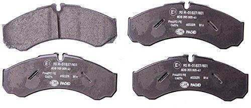 HELLA PAGID 8DB 355 005-411 Kit pastiglie freno, Freno a disco, Assale anteriore