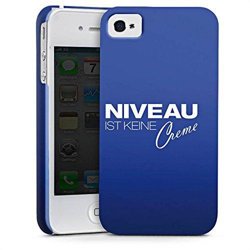 Apple iPhone X Silikon Hülle Case Schutzhülle Niveau Creme Spruch Premium Case glänzend