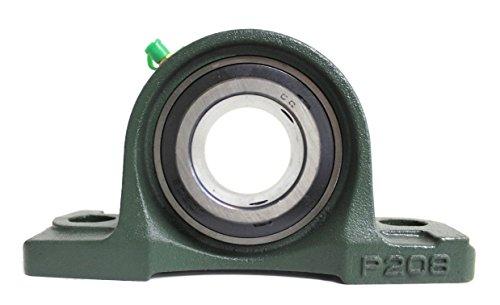 4x UCP 208/UCP208 Stehlager 40mm Welle (2-Loch Lagerbock) mit Metallschutzlack für Innendurchmesser 40mm Bohrung/Gehäuselager/Stehlagereinheit P208