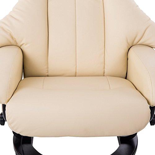 Homcom Massagesessel 700-008CW mit Heizfunktion inkl. Hocker Creme - 8
