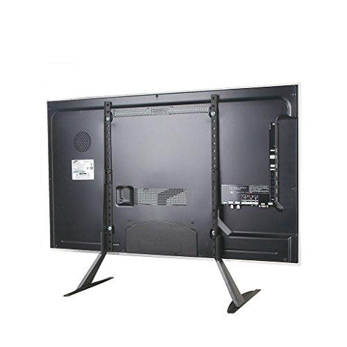 LED LCD Monitor Stand, Einstellbare Höhe TV PC Laptop Computer Bildschirm Riser Rack, maximale Tragfähigkeit 99lbs, Max VESA 800 * 400mm, schwarz ()