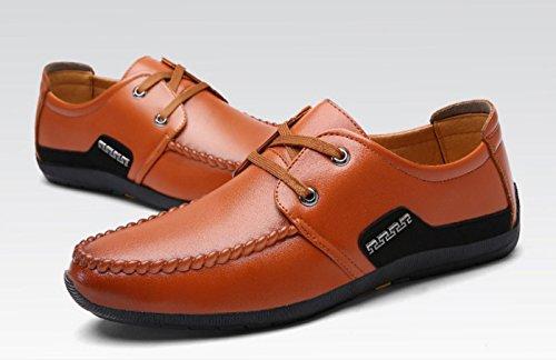 Negócio Outono Sólida Primavera Amarelo Novo Casuais Sapatos Cor Rendas E Homens qgPInwxTxC