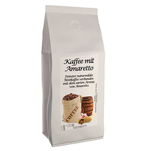Aromakaffee - aromatisierter Kaffee Amaretto 500 g gemahlen - Spitzenkaffee - Schonend Und Frisch In Eigener Rösterei Geröstet