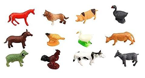 Assorted Farm Animals Set enfants Accueil Jouets éducatifs 12PCS