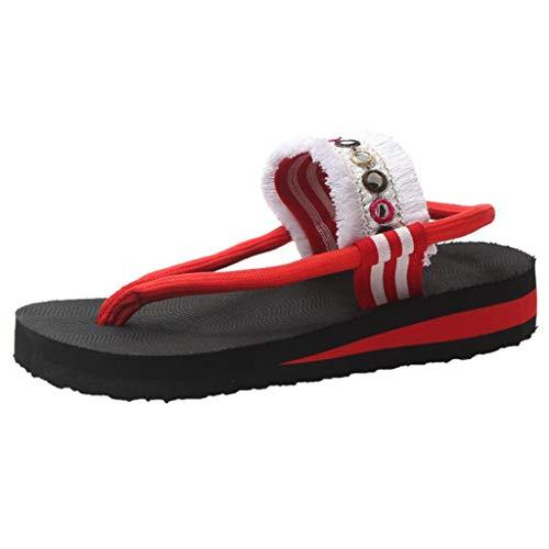NnuoeN Infradito e Ciabatte da Spiaggia Sandali Donna Stile Nazionale Sandali Ciabatte Infradito da Mare per All'aperto Partito