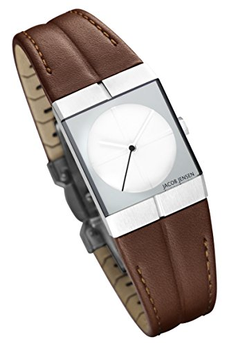 Jacob Jensen Strata Women's Quartz Watch with Brown