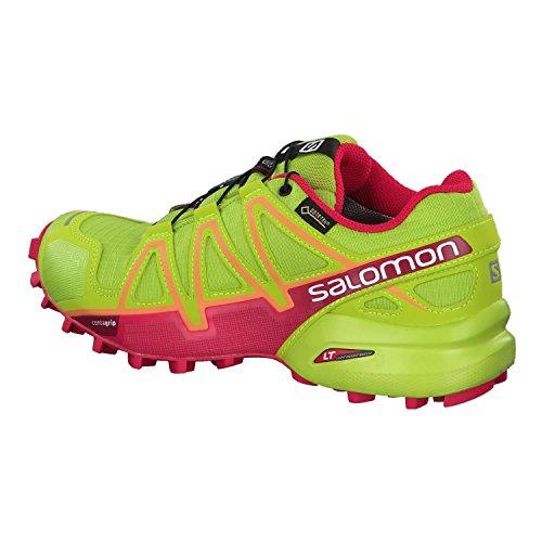 Salomon- Speedcross 4 GTX -  Chaussures de Course - Femme Lime Green / Virtual Pink / Bird Of Paradise