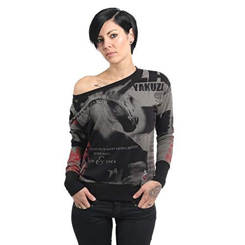 Yakuza Damen Unicorn Shirt Longsleeve