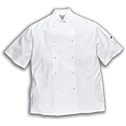 Portwest C733 - Cumbria chefs de la chaqueta, color Blanco, talla Medium