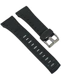 Uhrenarmband Kunststoff Band schwarz/grau 28mm passend zu Calypso Watches K55844 K5584