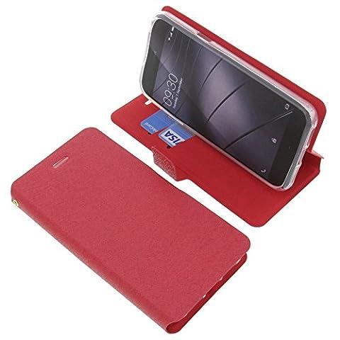 Tasche für Gigaset Me Pure Book Style rot Schutz Hülle