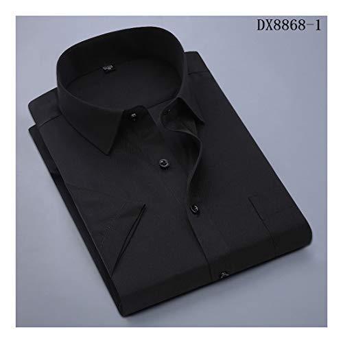 ee3c0f55e5 2019 Men's Dress Casual Short Sleeved Shirt Twill Shirt Social Brand Shirts