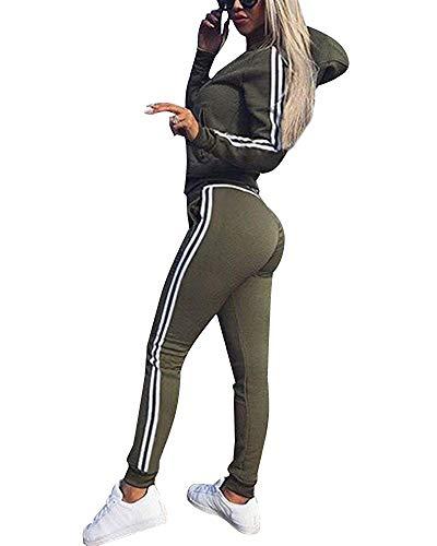 Minetom Mujeres Chándales Con Capucha Pantalones
