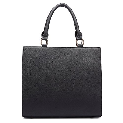 Miss Lulu , Damen Henkeltasche 6613 Grey