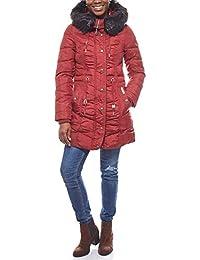 8ae18f798d563f DreiMaster leicht taillierter Damen Steppmantel Outdoor-Jacke Wintermantel  Weinrot