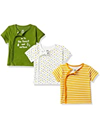MINI KLUB Baby Boys' Plain Regular Fit T-Shirt (Pack of 3)