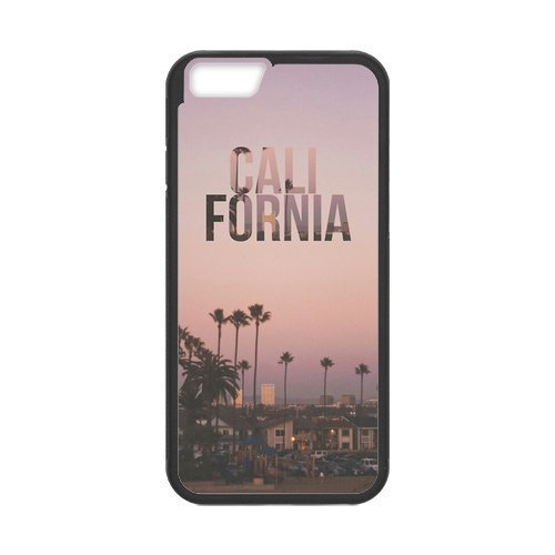Custom California Sunset Beach Palm Tree Durable Protector Plastic Snap On Cover Case for iPhone 6
