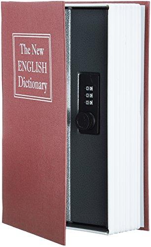 AmazonBasics - Caja de seguridad en forma de libro - Cerradura con...
