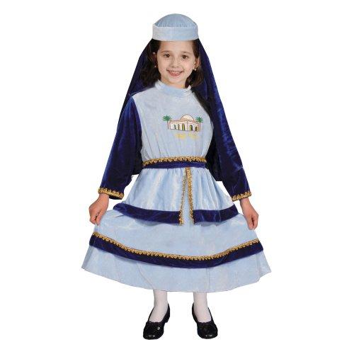 Dress Up America 370-S - Kostüm Set jüdische Mutter Rachel, 4-6 Jahre, Taille 74 cm, Größe 107 cm, schwarz
