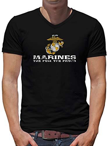 TShirt-People US Marine Corps USMC V-Kragen T-Shirt Herren M Schwarz -