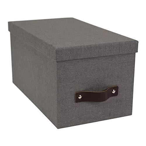 Bigso Silvia Canvas Papier Laminat Media Box grau