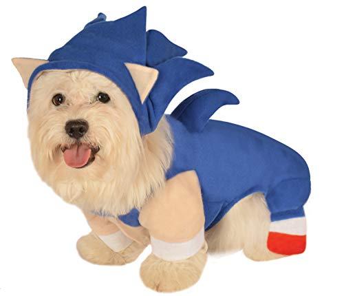 Rubies Kostüm für Haustiere, Extra Large, - Kind Sonic Kostüm