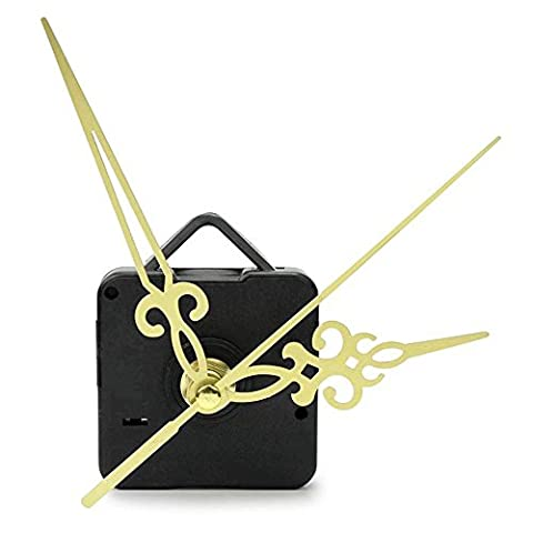 Atdoshop(TM) Gold Hands Simple DIY Quartz Wall Clock Movement Mechanism Replacement Parts Kit