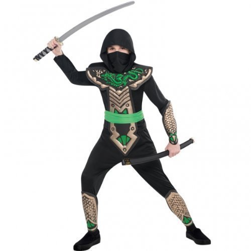 ntöter Ninja Kostüm Verkleidung (6-8 Jahre) Gr. 128 (Ninja Jungen-kostüm)