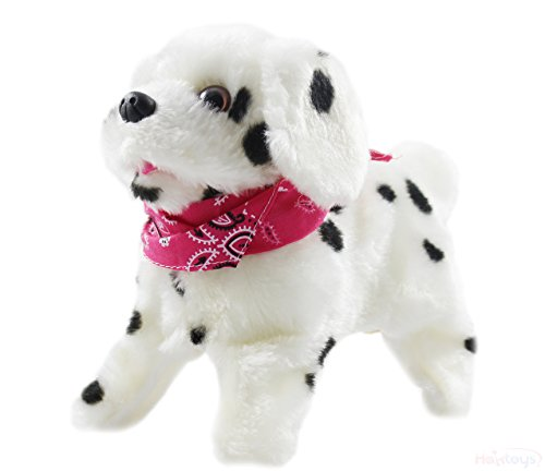 Haktoys My Little Puppy - Flip Over Puppy, Walks, Sits, Barks, Somersaults - Dalmatian Dog Toy