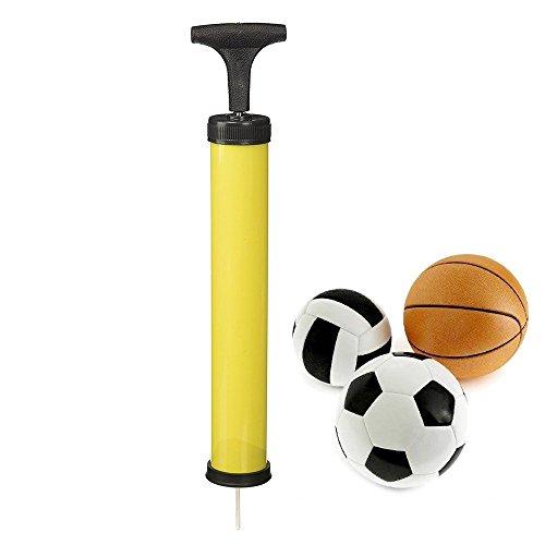 NiceButy - Hand-Luftpumpe mit Nadeladapter Ballpumpe Luftpumpe Effizient für Fußball, Basketball, Volleyball, Rugby, Water-Polo Zufällige Farbwahl -