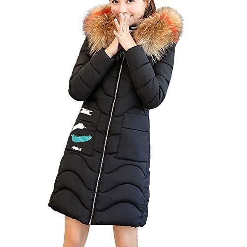 eeb82a7b1d2 BBestseller Chaqueta de Plumón para Mujer con Piel Capucha Slim Fit Abrigo  de Algodon de Invierno