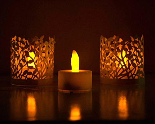 Candeberg - 6 Flameless Diwali LED Tealight Candles- long lasting- 70+ hours...