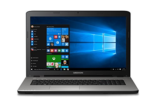 Medion 30021817 Akoya E7415 43,9 cm (17,3 Zoll) Notebook (Intel Core i3-5005U, Intel HD Grafik 8GB, 512GB SSD, DVD, Win 10) schwarz