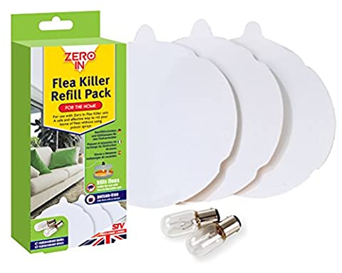 Zero In Flea Killer (3 Refill Discs and 2 Spare Lamps) - Refill Pack