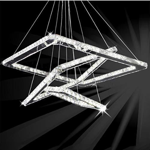 NHX Araña Cristal led Moderno Cuadrado Acero Inoxidable