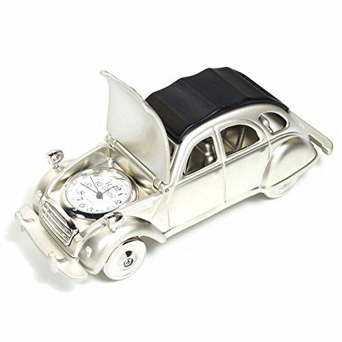 Cosmo 2014101 Miniatur Auto 2CV Tischuhr Uhr Analog weiß