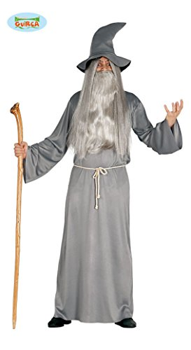 Kostüm Mystische Zauberer (3-teiliges Herren Zauberer Halloween Kostüm - Tunika Hut Kordel - Einheitsgröße)