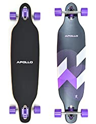 Apollo Longboard Makira tabla completa rodamiento de bolas High Speed ABEC, Drop Through Freeride Skating Cruiser Board…