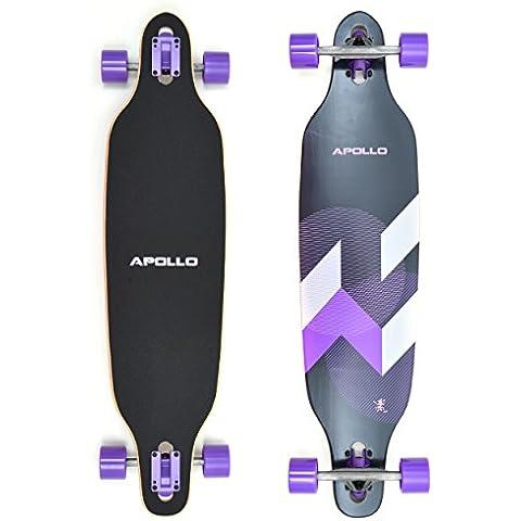 Longboard Makira della Apollo Tavola completa con cuscinetti a sfera High Speed ABEC, Drop Through Freeride Skating Cruiser Board… - Cuscinetto Ruota Corsa