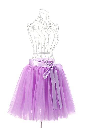 MisShow Damen Rockabilly Tüll Petticoat Reifrock Unterrock Petticoat  Underskirt für Rockabilly Kleid One Size 50CM-