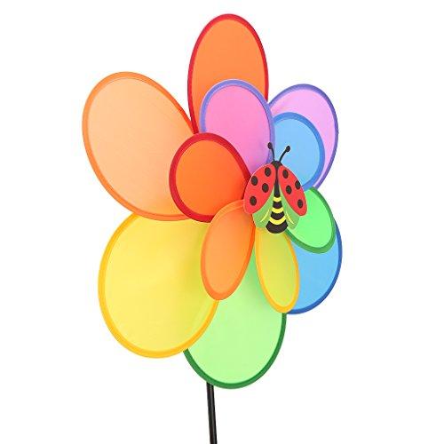 Wanfor Größere Doppelschicht Insekt Windmühle Wind Spinner Kinder Spielzeug Yard Garten Dekoration   Kinderzimmer > Kinderzimmerdekoration   Kunststoff   Wanfor