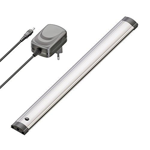 ledscom.de LED Unterbau-Leuchte Sabik mit Netzteil, flach, matt, 30cm, 210lm, warm-weiß