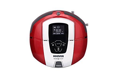 Hoover RBC040 - Robot aspirador con filtro HEPA, hasta 90 mins. de autonomía, programable semanal, color rojo metálico