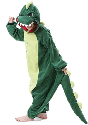 Tier Halloween Kostüme Erwachsenen (Anbelarui Jumpsuit Tier Karton Fasching Halloween Kostüm Sleepsuit Dinosaurier Cosplay Fleece-Overall Pyjama Schlafanzug Erwachsene Unisex Nachtwäsche ()