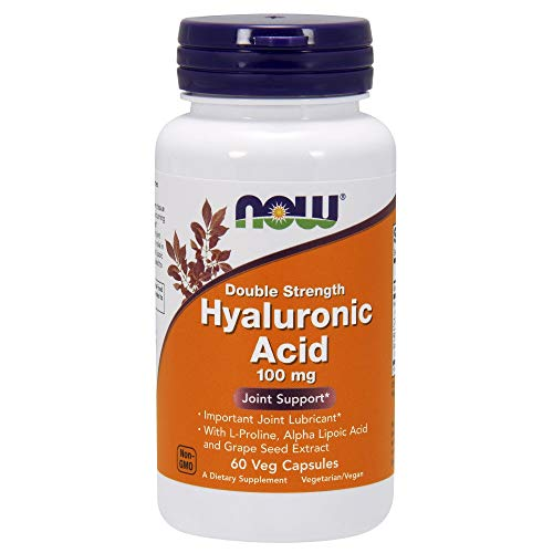 Now Foods, Hyaluronsäure 60 Kapseln - Hyaluronic Acid 100 mg - Acid-100 Kapseln