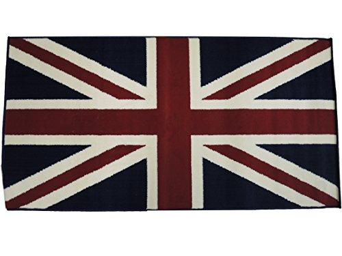 GoldenHome Tappeto Bandiera Regno Unito Misura 80 x 150 cm