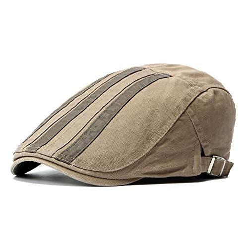 Fashian Unisex Einstellbare Baumwolle Flat Cap Übergroße Zeitungsjunge Patch Ivy Stripes Gatsby Duckbill Irish Cap Hut (Color : 5, Size : Free Size) Irish Patch Cap