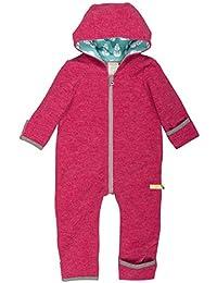 loud + proud Baby Overall aus Dickem, Warmen Bio Woll-Fleece und Bio Baumwolle. Vorne mit Reißverschluss, GOTS Zertifiziert