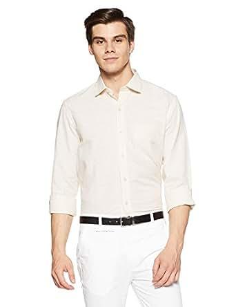 John Players Men's Formal Shirt (8902986835091_JWFFSO071A139_39_Beige)