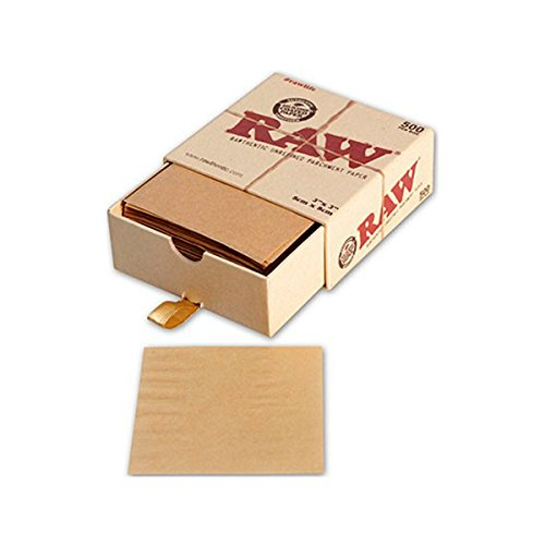 Pergamentpapier ungebleicht RAW 500 Stück (80x80mm)